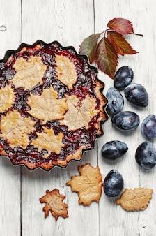 Autumn plum tart