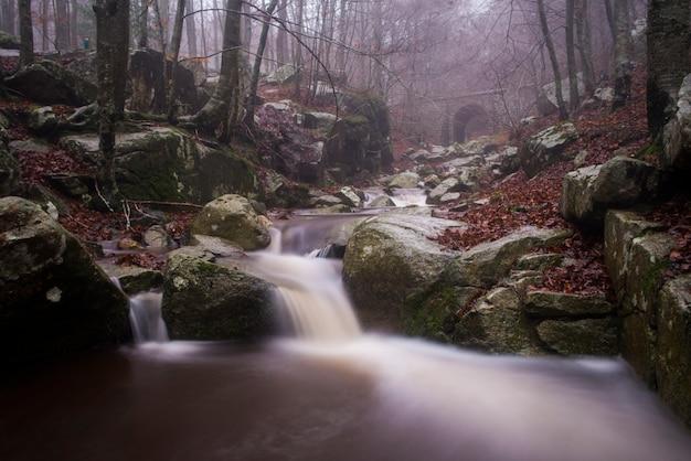 Autumn at river montseny, catalonia , spain