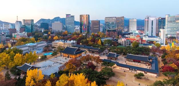 서울 덕수궁의 가을, 한국.