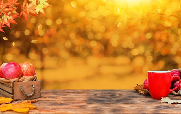과일과 야채와 함께 가을 시즌입니다. 가을 수확 풍요의 뿔.
