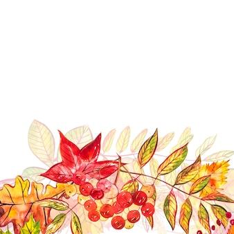 秋季節イラスト。水彩イラスト。