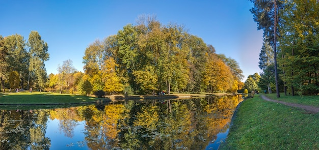 Autumn in sofiyivka park in uman, ukraine