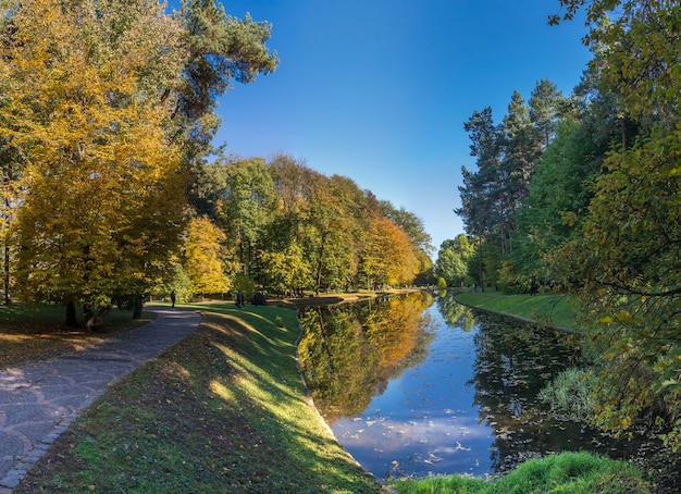 Autumn in sofiyivka park in uman, ukraine