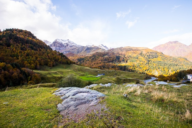 Autumn in somport, pyrenees, france