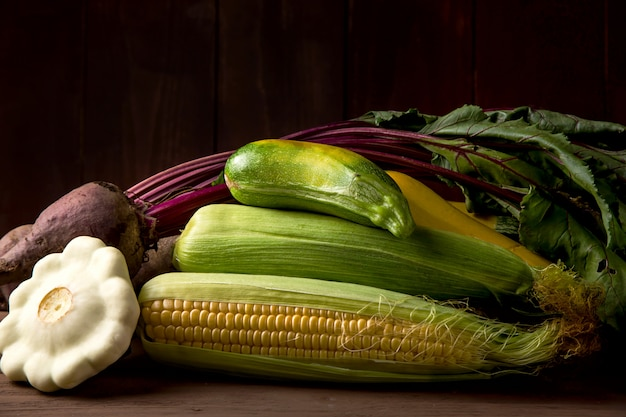 Autumn vegetables harvest for thanksgiving concept