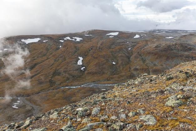 Autumn view of sarek national park, lapland, norrbotten county, sweden