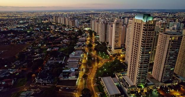 Avenida professor joao fiuza the most famous avenue in ribeirao preto so paulo  brazil