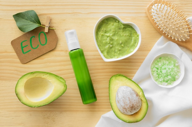 Avocado cream spa natural cosmetics