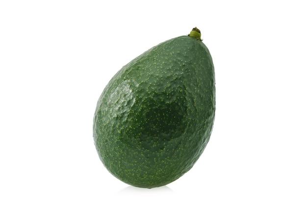 Avocado fruit isolated on white background.