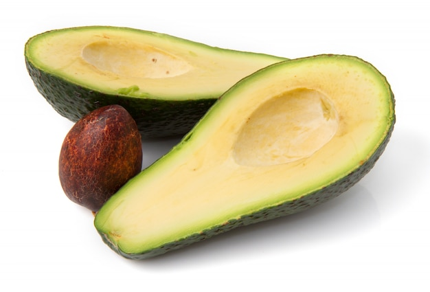 Avocado half cut