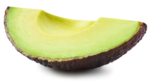 Половина авокадо, изолированные на белом фоне