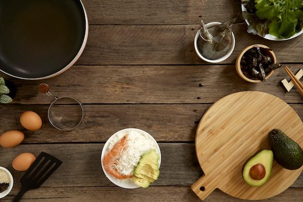 Avocado hawaii food poke bowl kitchen