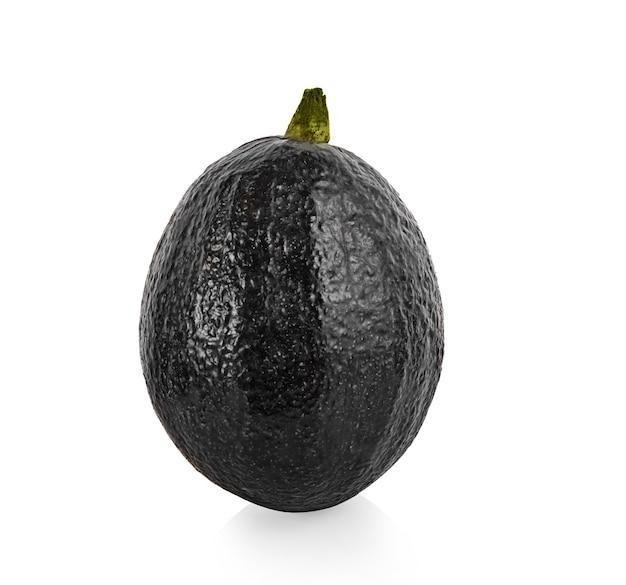 아보카도 흰색 배경에 고립