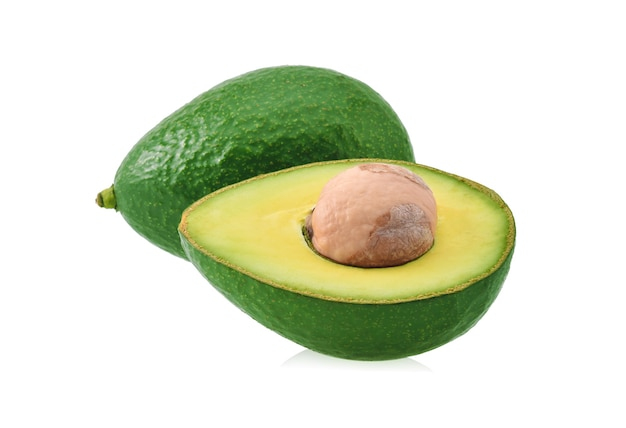 Avocado isolated on white background.