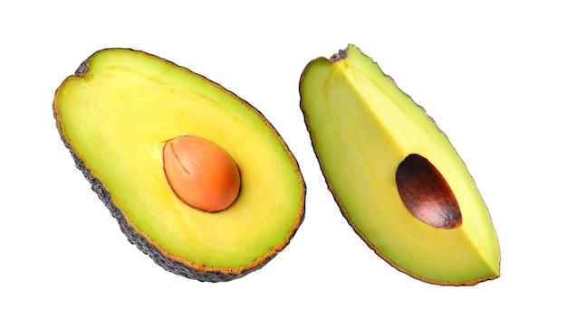 Avocado isolated on a white