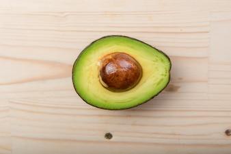 Avocado on wood table