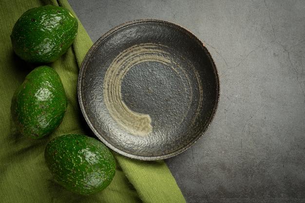 Prodotti di avocado a base di avocado concetto di nutrizione alimentare.