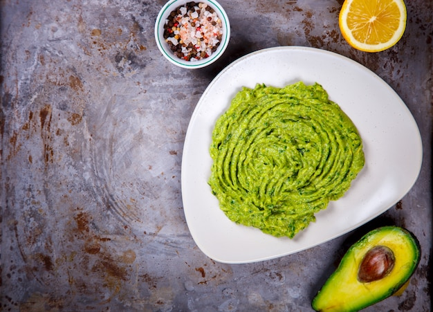 Avocado, vegetable.guacamole is a traditional mexican sauc