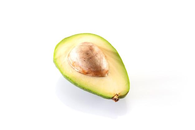 흰색 바탕에 아보카도입니다.