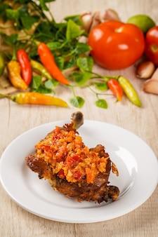 Ayam sambal bawang ayam sambal bawang is traditional cuisine from padang west sumatra