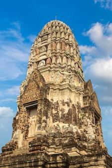 Исторический парк аюттхая в аюттхая, таиланд