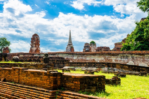 Ayutthaya temple ruins, wat maha that