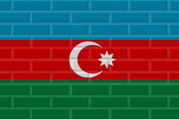 Azerbaijan brick flag illustration