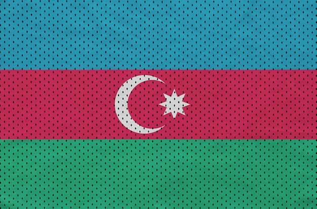 Флаг азербайджана с принтом на сетке из полиэстера и нейлона