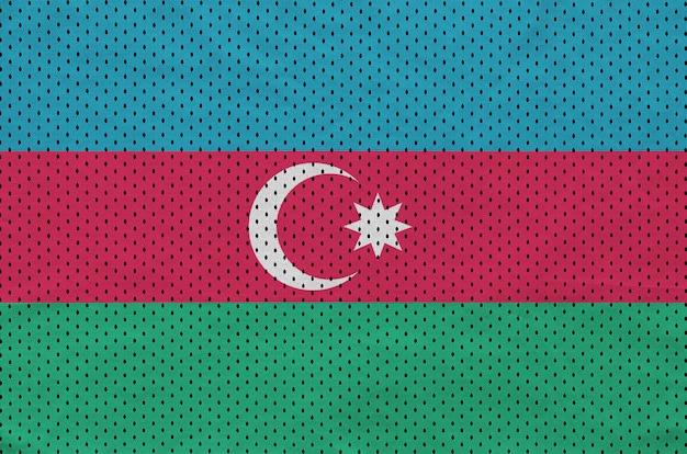 Azerbaijan flag printed on a polyester nylon sportswear mesh fabric