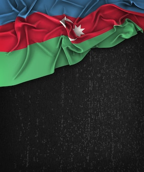Azerbaijan flag vintage on a grunge black chalkboard with space for text