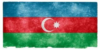 Azerbaijan grunge flag  vintage