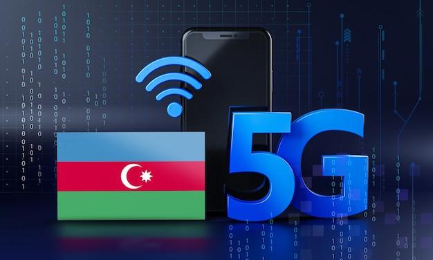 Азербайджан готов к концепции подключения 5g. 3d визуализация смартфон технологии фона