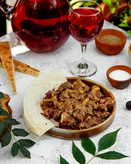 Azeri gara made from meat, fried onions, chestnuts