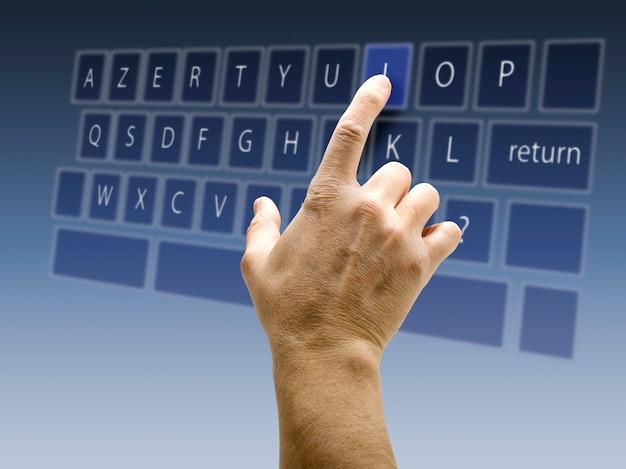 Azerty touchscreen interface