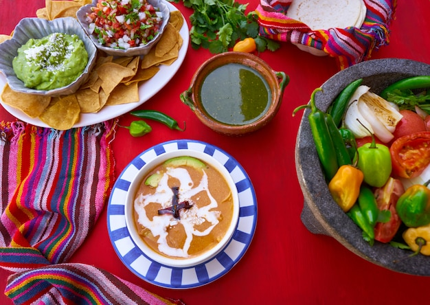 Aztec soup from mexico recipe