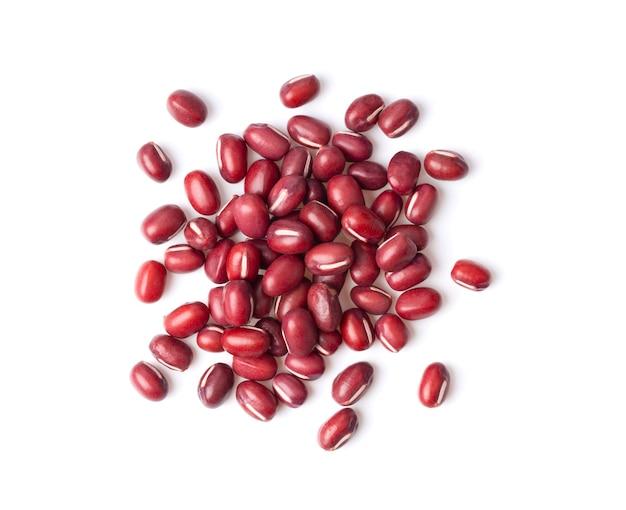 小豆または小豆の種子を分離した上面図