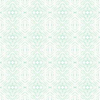 アズレージョ水彩シームレスパターン。伝統的なポルトガルのセラミックタイル。手描きの抽象的な背景。テキスタイル、壁紙、プリント、水着のデザインのための水彩画のアートワーク。緑のアズレージョ柄。