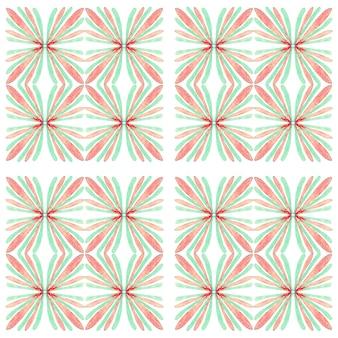 Азулежо акварель бесшовные модели. традиционная португальская керамическая плитка. ручной обращается абстрактный фон. акварель для текстиля, обоев, принта, дизайна купальных костюмов. зеленый узор азулежу.