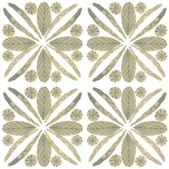 Азулежо акварель бесшовные модели. традиционная португальская керамическая плитка. ручной обращается абстрактный фон. акварель для текстиля, обоев, принта, дизайна купальных костюмов. серый узор азулежу.