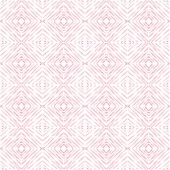アズレージョ水彩シームレスパターン。伝統的なポルトガルのセラミックタイル。手描きの抽象的な背景。テキスタイル、壁紙、プリント、水着のデザインのための水彩画のアートワーク。赤いアズレージョ柄。