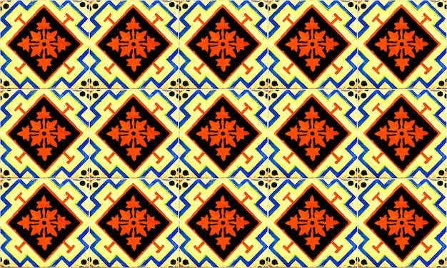 Безшовная плитка португалии или испании azulejo. высокое разрешение.