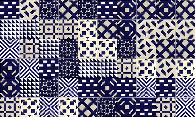 Бесшовные португалия или испания azulejo плитка фон