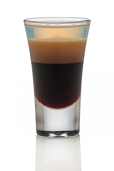 B 52 cocktail shot isolated on white