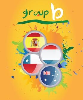 ワールドカップグループbベクトル