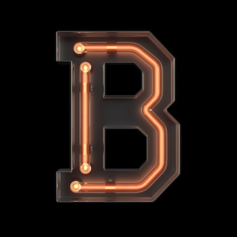 Неоновый свет алфавит b