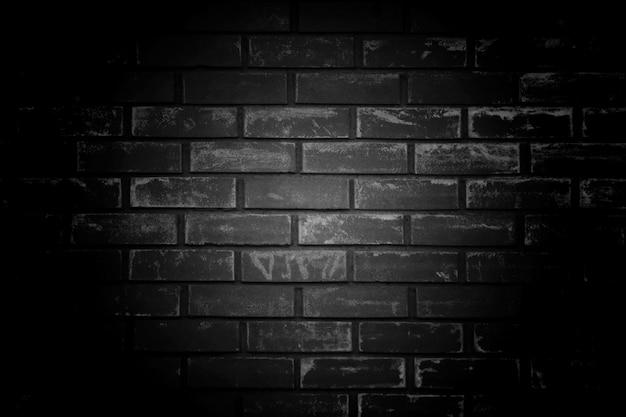 古い黒壁の背景。ボーダー黒ビネットbaとテクスチャ