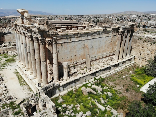 Baalbek great temple from lebanon in beirut