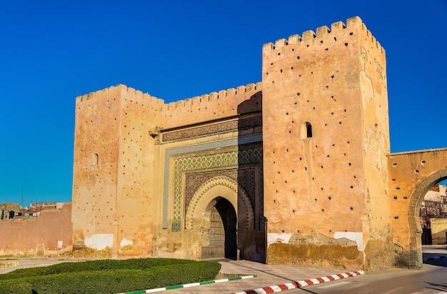 Meknes의 bab bni mhammed gate-모로코