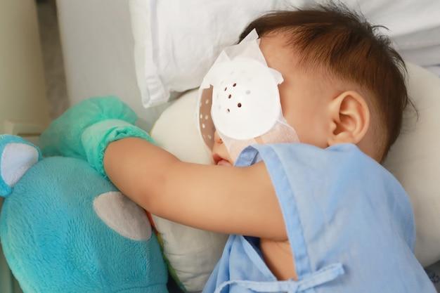 Babies undergoing eye surgery.