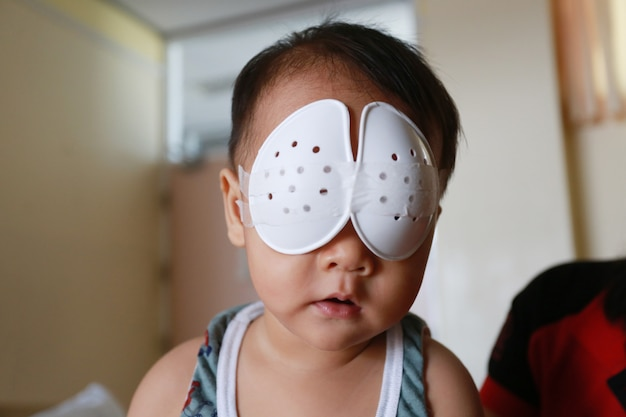 Babies undergoing eye surgery. Premium Photo